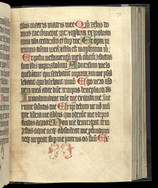 A marginal drawing, in the Glenorchy Psalter
